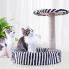 Detachable Cat Climbing Frame Sisal Material Cat Scratching Post Board Pet Bed - Black/White