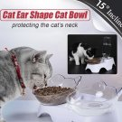 Elevated Cat Food Water Feeder Automatic water replenishment