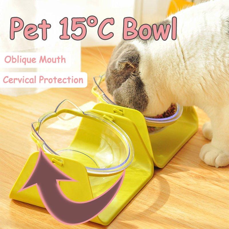 U-shaped Cat Food/Water Bowl Slow Feeder