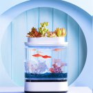 Cat TV! Mini Fish Tank USB Charging Self-Cleaning Aquarium with 7 Colors LED Lights!