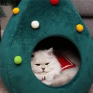CHRISTMAS TREE WINTER WARM WINTER CAT HOUSE PET BED