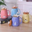 250ml Cute Creative Cat Glass Coffee Tea Milk Water Mug with Cat Tail Handle