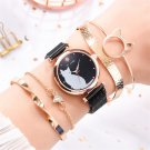 Stylish Cute Cat Dial Magnetic Ladies Quartz Watch Bracelet