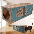 Funny Cat Play Tunnel Foldable Holes Cat Paper Tunnel Cave Hide and Seek Toy