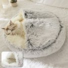 Long Plush Round Super Cosy Cushion Nest / Cat Bed