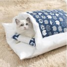 Japanese Cat Bed Warm Cat Sleeping Bag Cat Nest Cushion with Pillow