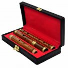 """IRISH HAND MADE ROSE WOOD WOODEN FLUTE """"D"""" WITH WOOD CASE, 4 PART, 26"""" SIZE,"""