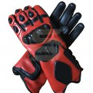 Motorcycle Gloves Genuine Leather Motorbike Driving Racing Biker Protective Gear Size L