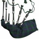 Scottish Great Highland Rosewood Bagpipe Black Watch Tartan
