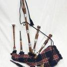 Scottish Great Highland Rosewood Bagpipe BLACK Stewart Tartan