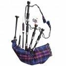 Scottish Great Highland Rosewood Bagpipe PRIDE OF SCOTLAND Tartan