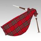 Scottish Goose Practice Bagpipe Black Imitation Ivory Mounts Royal Stewart Bag