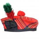 Scottish Royal Stewart  Tartan BALMORAL HAT Military Highlander Kilt Cap Size 56 cm