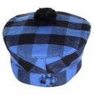 Scottish Buffalo Plaid Tartan BALMORAL HAT Military Highlander Kilt Cap Size 60 cm