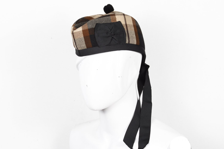Scottish GLENGARRY Cap Traditional Military Piper Hat KILT Cap Rose Ancient Size 60 cm