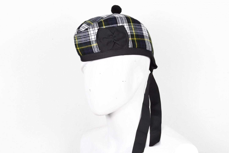 Scottish GLENGARRY Cap Traditional Military Piper Hat KILT Cap Clan Dress Gordon Size 58 cm