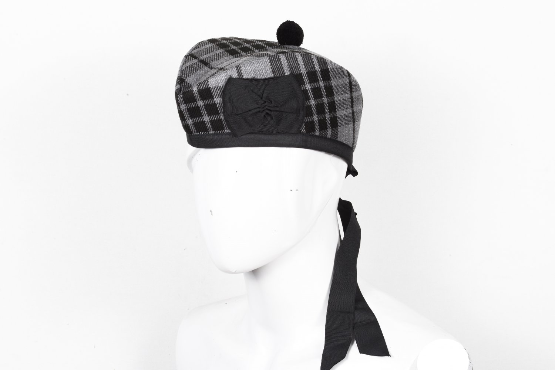 Scottish GLENGARRY Cap Traditional Military Piper Hat KILT Cap Clan Grey Watch Size 64 cm