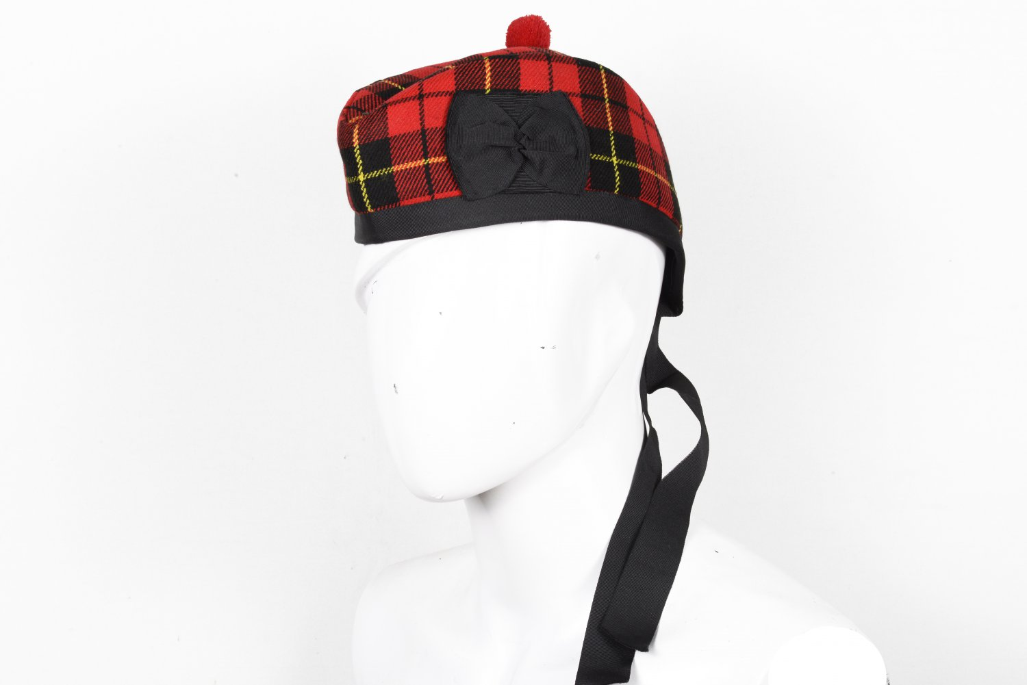 Scottish GLENGARRY Cap Traditional Military Piper Hat KILT Cap Clan Wallace Size 64 cm