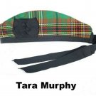 Scottish GLENGARRY Cap Traditional Military Piper Hat KILT Cap Clan Tara Murphy Size 64 cm