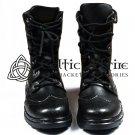 Scottish Kilt Ghillie Brogue Black Boots Shoes100%Genuine Leather Shoes Size us 13
