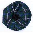 Scottish Tam O' Shanter Hat Clan Tartan/Tammy HAT Kilt Cap One Size Blue Douglas