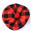 Scottish Tam O' Shanter Hat Clan Tartan/Tammy HAT Kilt Cap One Size  Red Black Rob Roy
