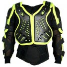 Motorbike Full Body Armor Florescent Green Jacket Motocross Race Gear Size L