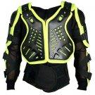 Motorbike Full Body Armor Florescent Green Jacket Motocross Race Gear Size 2XL