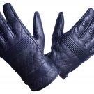 MOTOR-BIKE RACING Safety GLOVES Genuine Leather Black Color Size XL