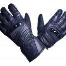 MOTOR-BIKE RACING Safety GLOVES Genuine Leather Black Color Size XS