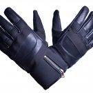 MOTOR-BIKE RACING Safety GLOVES Genuine Leather Black Color Size 2XL