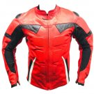 Motorbike Racing Motorcycle Rider Leather Jacket Best Quality 2XL Size