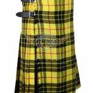 Scottish 8 Yard McLeod of Lewis TARTAN KILT For Men Highland Traditional Kilt Size 30