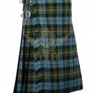Scottish Gunn Ancient 8 Yard KILT For Men Highland Acrylic Tartan Traditional Kilt