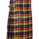 Scottish Buchanan 8 Yard KILT For Men Highland Traditional Acrylic Tartan Kilt