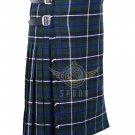 Men's Scottish Blue Douglas 8 yard KILT For Men Highland Traditional Douglas Tartan Kilt