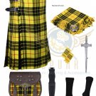 8 Yard McLeod of Lewis Traditional Scottish 8 yard  Kilt For Men - Free Accessories