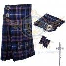 8 Yard Traditional Scottish Kilt For Men Pride of Scotland 8 yard kilt- Free Accessories