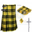 8 Yard Traditional Scottish Kilt For Men McLeod of Lewis Tartan- Free Accessories Size 40