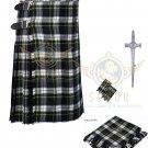 8 Yard Traditional Scottish Kilt For Men Dress Gordon Tartan- Free Accessories Size 40