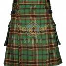Scottish Men's Modern utility kilt - Cargo Pockets Kilt Tara Murphy Tartan Size 34