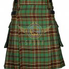 Scottish Men's Modern utility kilt - Cargo Pockets Kilt Tara Murphy Tartan Size 40