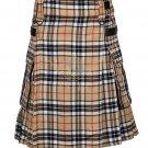 Scottish Men's Modern utility kilt - Cargo Pockets Kilt Campbell of Thompson Tartan