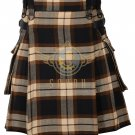 Scottish Men's Modern utility kilt - Cargo Pockets Kilt Rose Ancient Tartan