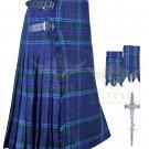 Mens Scottish 8 Yard KILT Traditional 8 yard Spirit of Scotland tartan KILT & Accessories Size 46