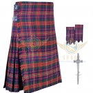 Mens Scottish 8 Yard KILT Traditional 8 yard Cameron tartan KILT & Accessories