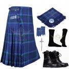 Mens Scottish 8 Yard KILT Traditional 8 yard Spirit of Scotland Tartan KILT & Accessories Size 48
