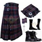 Mens Scottish 8 Yard KILT Traditional 8 yard Spirit of Bruce Tartan KILT & Accessories