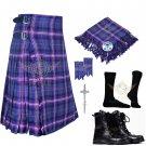 Mens Scottish 8 Yard KILT Traditional 8 yard Masonic Tartan KILT & Accessories