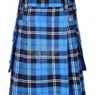 Scottish Men's Modern utility kilt - Two Cargo Pockets Kilt Ramsey blue Hunting Tartan